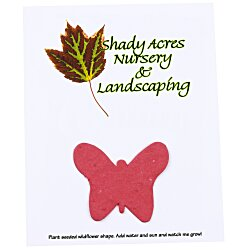 View a larger, more detailed picture of the Seeded Paper Shapes Mailer Postcard - 4 x 5 Butterfly