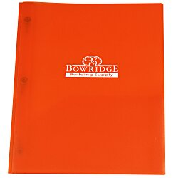 View a larger, more detailed picture of the 3 Prong Twin Pocket Presentation Folder - Translucent
