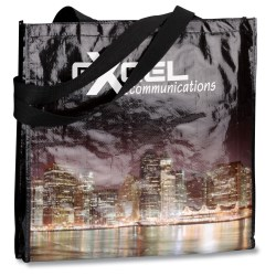 View a larger, more detailed picture of the PhotoGraFX Scapes Gusseted Tote - City-Closeout