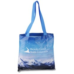 View a larger, more detailed picture of the PhotoGraFX Scapes Flat Tote - Mountains - Closeout