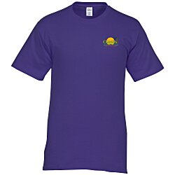 View a larger, more detailed picture of the Hanes Tagless T-Shirt - Embroidered - Colors
