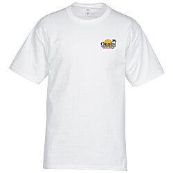 View a larger, more detailed picture of the Hanes Tagless T-Shirt - Embroidered - White