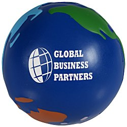 View a larger, more detailed picture of the Multi Colored Globe Stress Ball - 24 hr