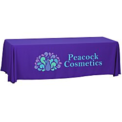 View a larger, more detailed picture of the Economy Open-Back Polyester Table Throw - 8 - 24 hr
