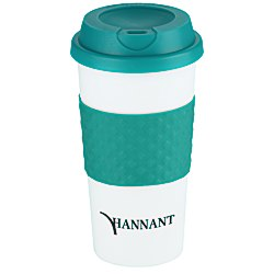 View a larger, more detailed picture of the Color Banded Classic Coffee Cup - 16 oz - 24 hr