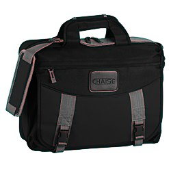 View a larger, more detailed picture of the EZ Check Laptop Brief Bag - Polyester
