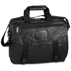 View a larger, more detailed picture of the EZ Check Laptop Brief Bag - Leather