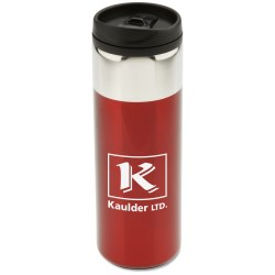 View a larger, more detailed picture of the Chrome Top Slim Travel Tumbler - 16 oz