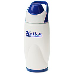 View a larger, more detailed picture of the Colorful Flip Top Bottle w Carry Handle - 22 oz