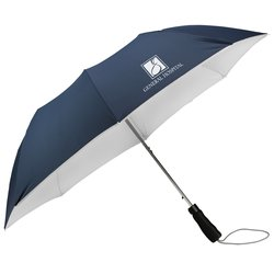View a larger, more detailed picture of the Colortone Double Sided Folding Umbrella - 43 Arc