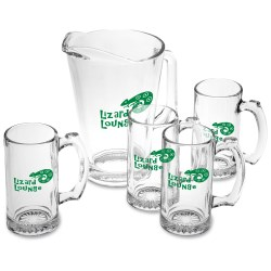 View a larger, more detailed picture of the Pitcher & Stein Glass Set