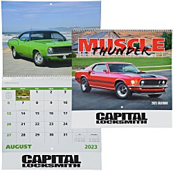 View a larger, more detailed picture of the Muscle Thunder Calendar - Spiral