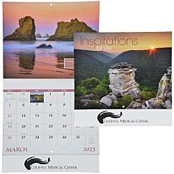 View a larger, more detailed picture of the Inspirations for Life Calendar - Stapled