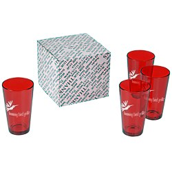 View a larger, more detailed picture of the Colored Pint Glass Set - 16 oz