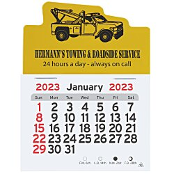 View a larger, more detailed picture of the Peel-n-Stick Calendar - Tow Truck