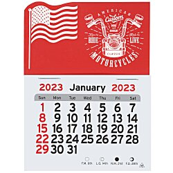 View a larger, more detailed picture of the Peel-N-Stick Calendar - American Flag