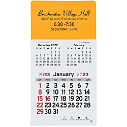 View a larger, more detailed picture of the Peel-N-Stick Calendar - Rectangle - 3 Month