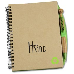 View a larger, more detailed picture of the Eco Notebook w Bamboo Swanky Pen