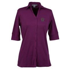 View a larger, more detailed picture of the Port Authority Silk Touch Interlock Polo - Ladies