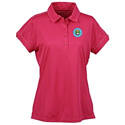 View a larger, more detailed picture of the Contrast Stitch Micropique Polo - Ladies