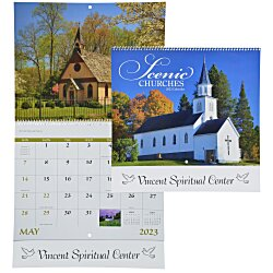 View a larger, more detailed picture of the Scenic Churches Calendar - Spiral