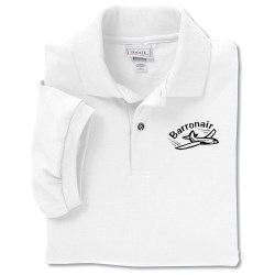 View a larger, more detailed picture of the Anvil 50 50 Jersey Knit Polo - Screen - White