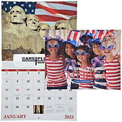View a larger, more detailed picture of the Celebrate America Calendar - Window