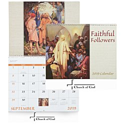 View a larger, more detailed picture of the Faithful Followers Calendar - Spiral