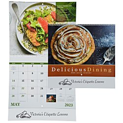 View a larger, more detailed picture of the Delicious Dining Calendar - Spiral