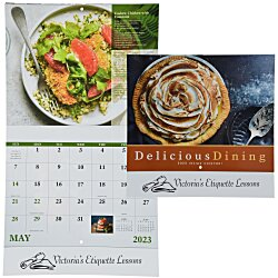 View a larger, more detailed picture of the Delicious Dining Calendar - Stapled