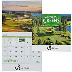 View a larger, more detailed picture of the Fairways & Greens Calendar - Stapled