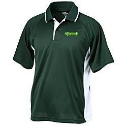 View a larger, more detailed picture of the Tipped Colorblock Wicking Polo - Men s