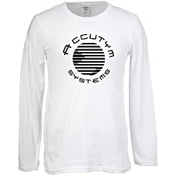 View a larger, more detailed picture of the Gildan SoftStyle LS T-Shirt - Men s - Screen - White