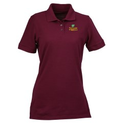 View a larger, more detailed picture of the Ultra Club Performance Elite Pique Polo - Ladies