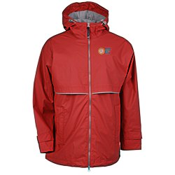 View a larger, more detailed picture of the New Englander Rain Jacket - Men s - Embroidered