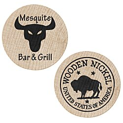 View a larger, more detailed picture of the Wooden Nickel - Buffalo