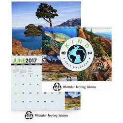 View a larger, more detailed picture of the Be Kind 2 Earth Calendar