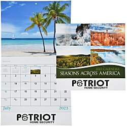 View a larger, more detailed picture of the Seasons Across America Calendar - Stapled