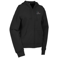 View a larger, more detailed picture of the Bella Raglan Full Zip Hooded Ladies Sweatshirt - Embroidery