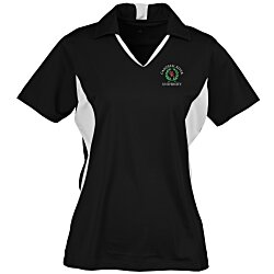 View a larger, more detailed picture of the Side Blocked Micropique Sport-Wick Polo - Ladies