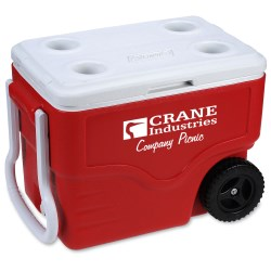 View a larger, more detailed picture of the Coleman 40-Quart Wheeled Cooler