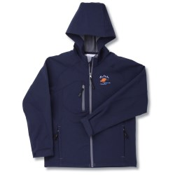 View a larger, more detailed picture of the North End Hooded Soft Shell Jacket - Youth