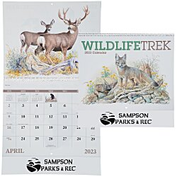 View a larger, more detailed picture of the Wildlife Trek Calendar - Spiral