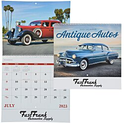 View a larger, more detailed picture of the Antique Autos Calendar - Spiral
