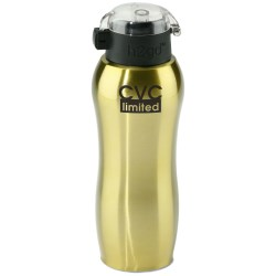 View a larger, more detailed picture of the h2go Active Stainless Sport Bottle - 24 oz