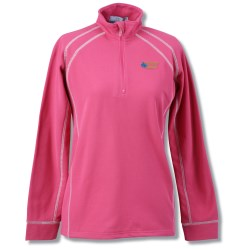 View a larger, more detailed picture of the Vansport Lightweight Waffle 1 4 Zip Fleece - Ladies