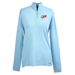 View a larger, more detailed picture of the Il Migliore Half Zip Sweater - Ladies