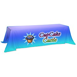 View a larger, more detailed picture of the Value Closed-Back Table Throw - 88 x 156 - Full Color
