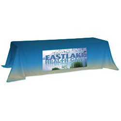 View a larger, more detailed picture of the Value Closed-Back Table Throw - 88 x 132 - Full Color