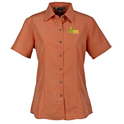 View a larger, more detailed picture of the Harriton Barbados Textured Camp Shirt - Ladies